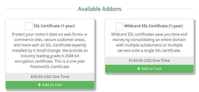 Site5 SSL Certificate pricing