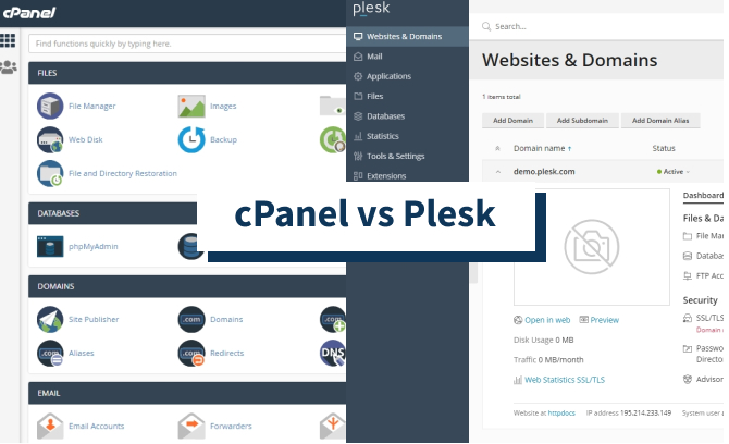 cPanel vs Plesk