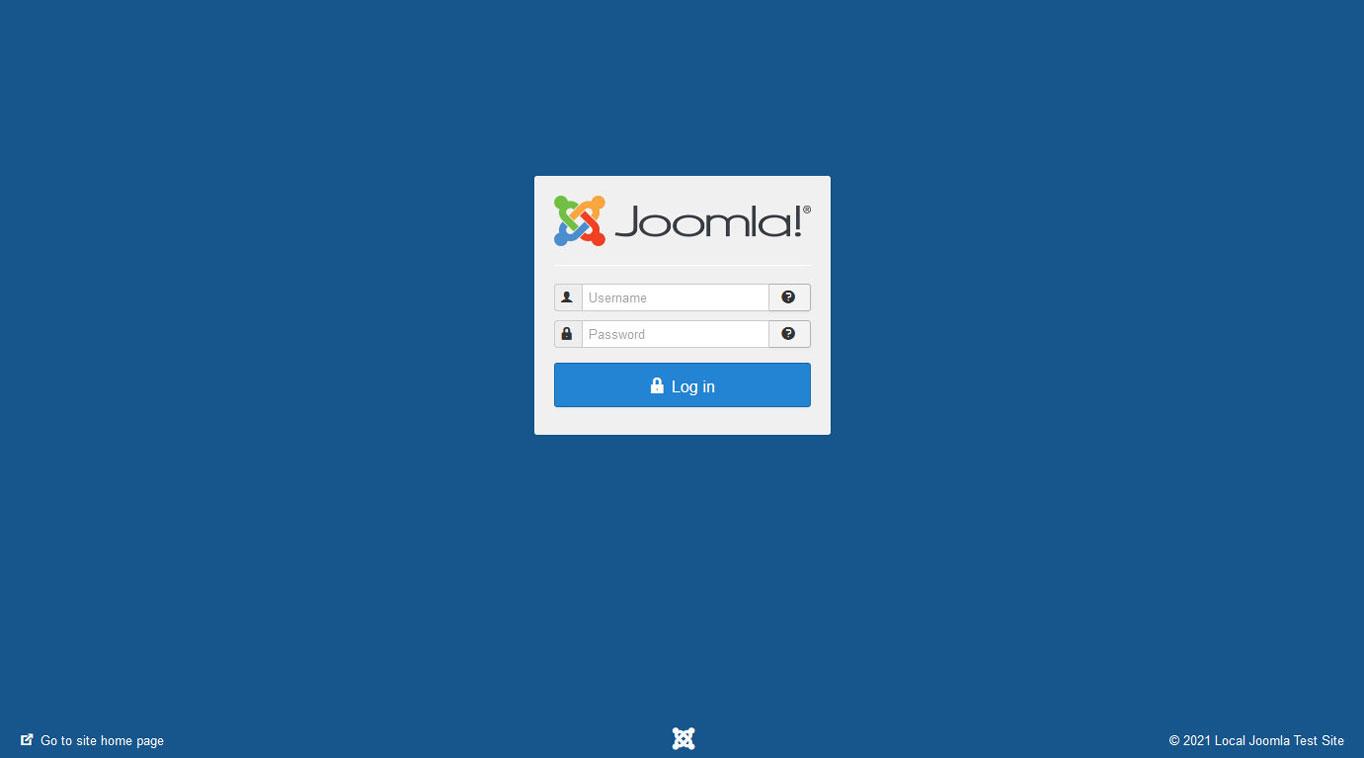 joomla administrator login page