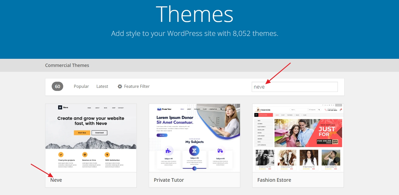 wordpress neve theme january 2021