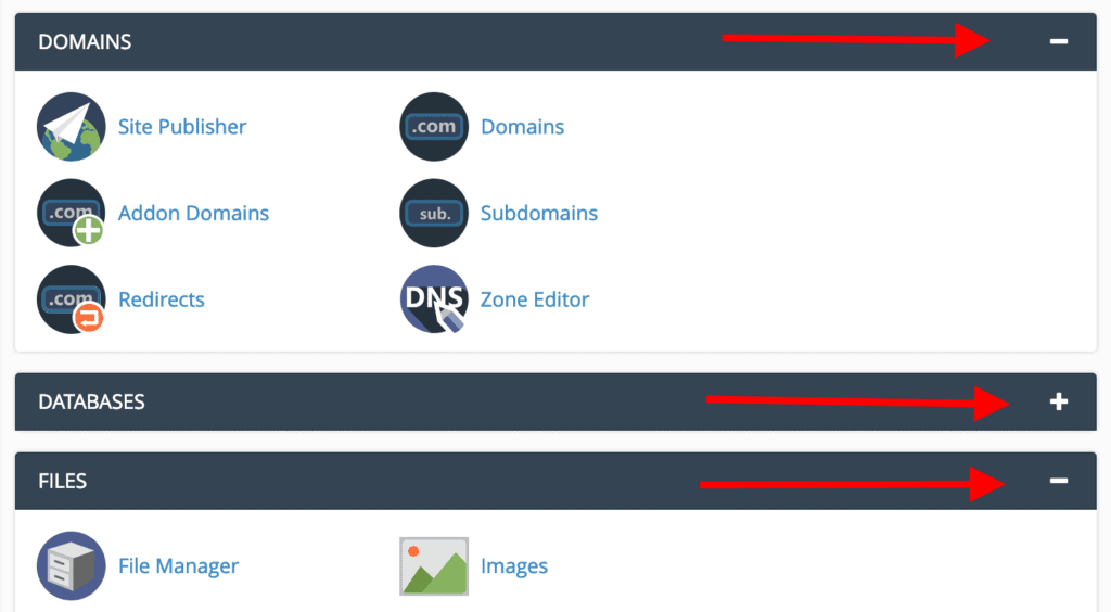 cpanel reorg