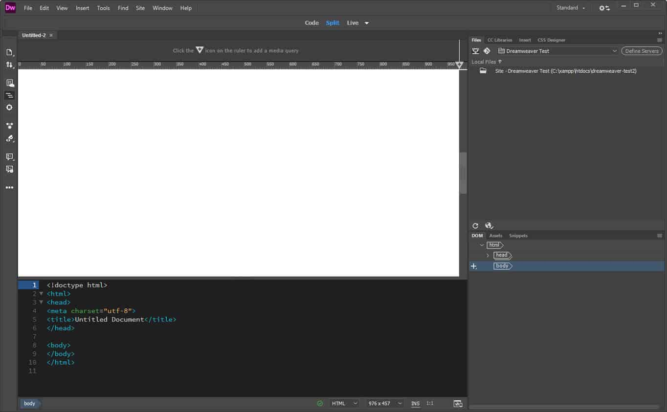 how to use dreamweaver user interface
