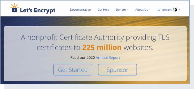 Let's Encrypt homepage