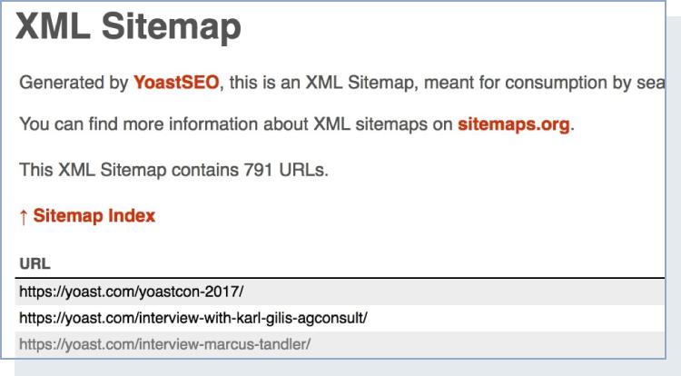 XML sitemap generated by YoastSEO