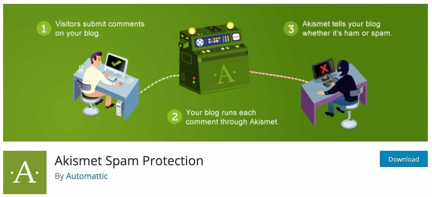 WordPress plugins for comment spam: Akismet