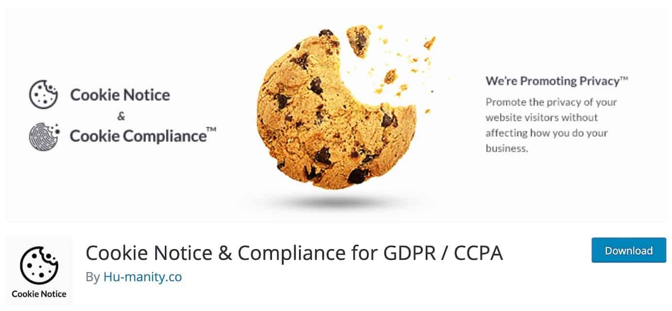 WordPress plugins for GDPR and CCPA: Cookie Notice