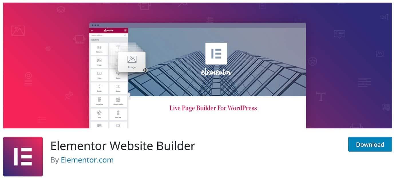 WordPress plugins for content: Elementor