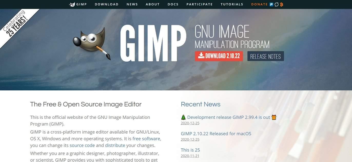 GIMP open source image editor