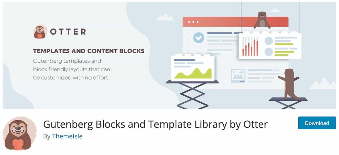 WordPress plugins for additional block options: Otter