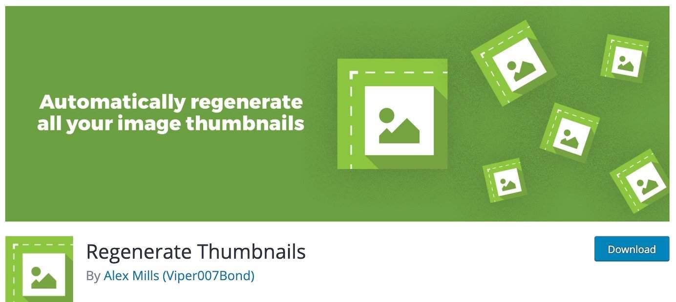 WordPress plugins for thumbnails: Regenerate Thumbnails