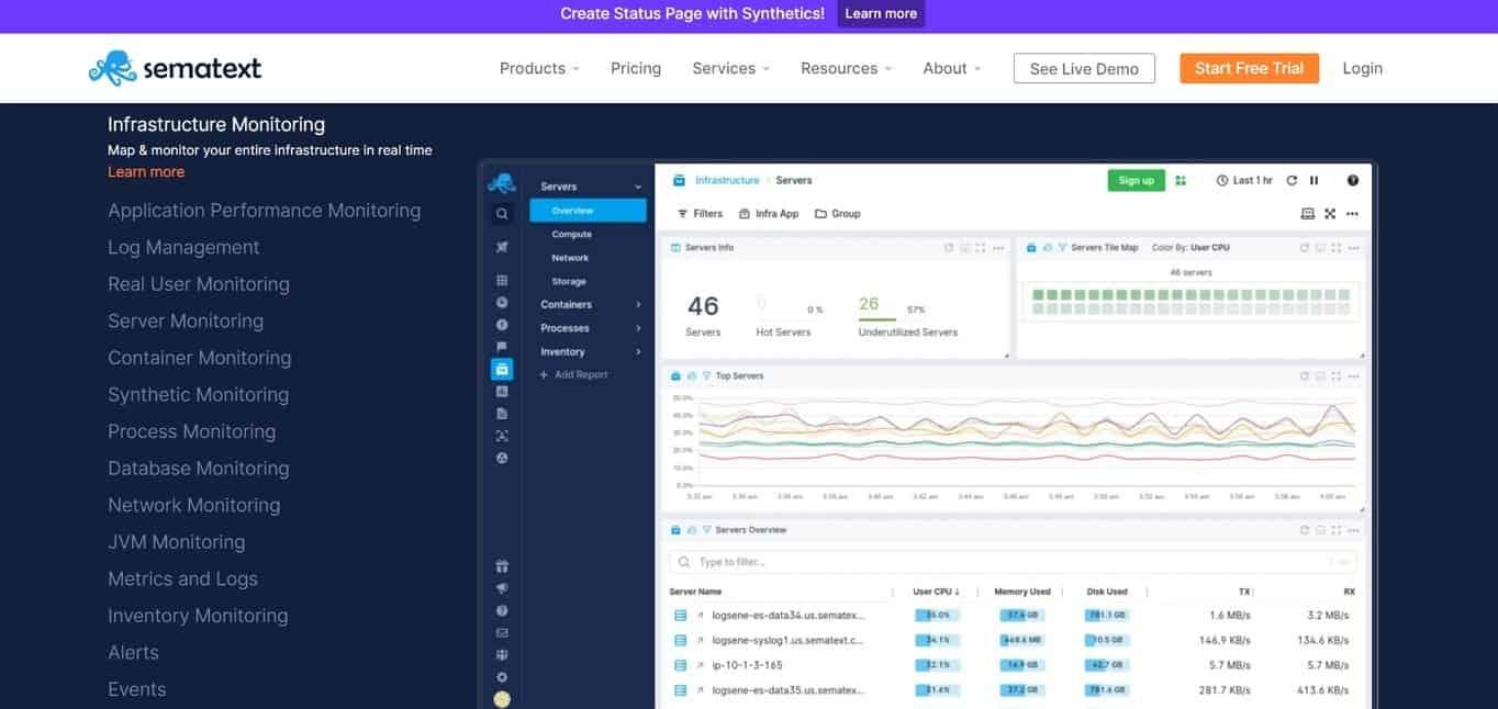 Sematext Monitoring Tool