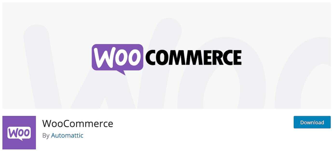 WordPress plugin for online store: WooCommerce
