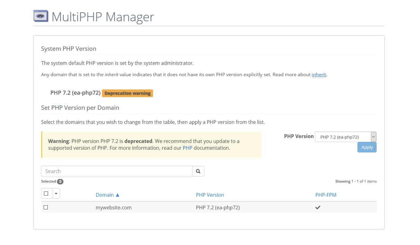 bluehost php manager