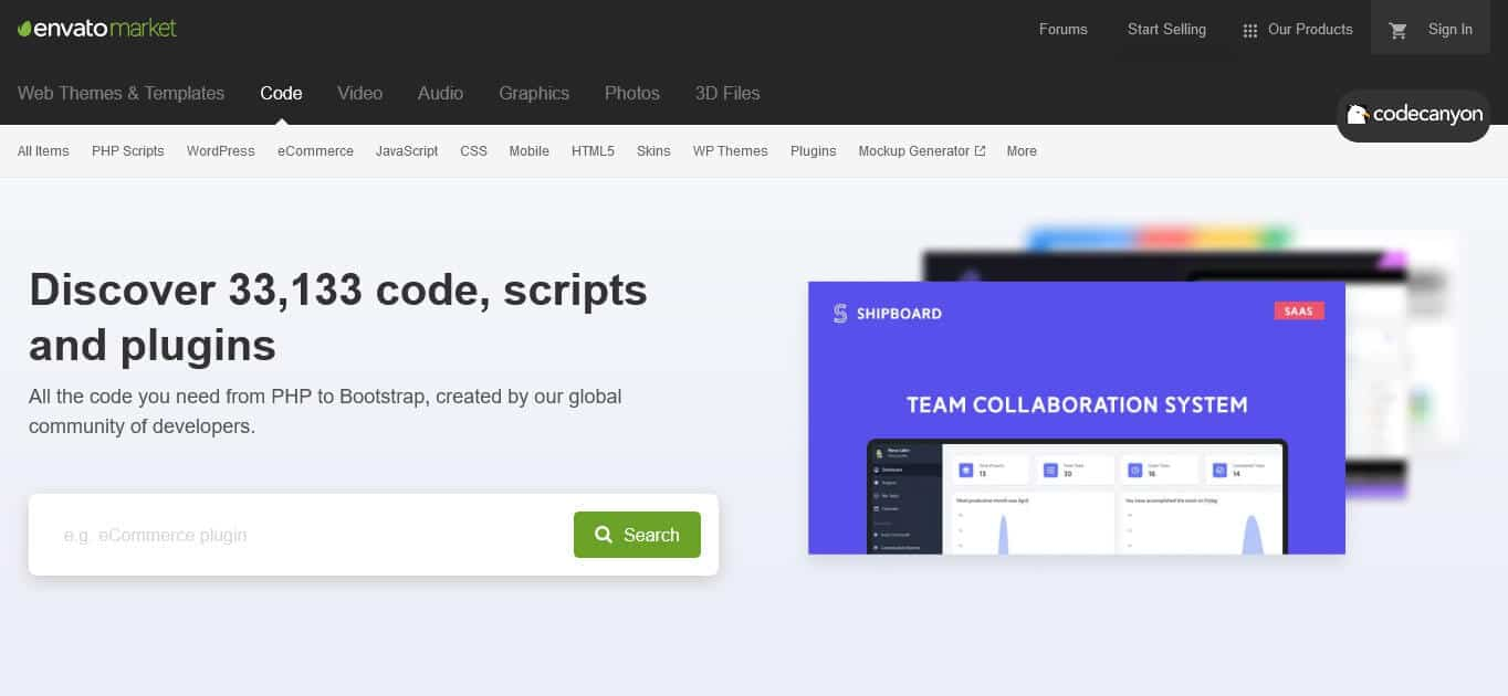 codecanyon php scripts marketplace