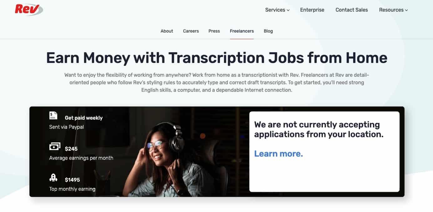 Rev - offer transcription services