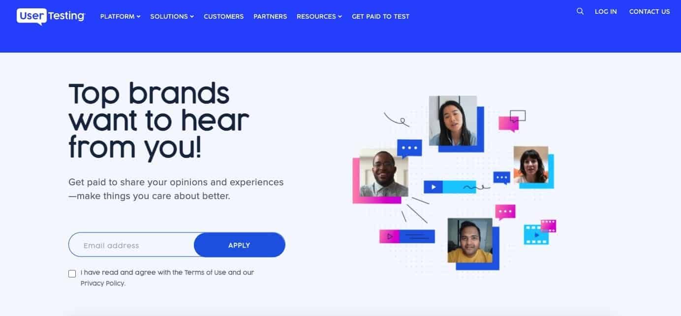 usertesting - earn money by testing products