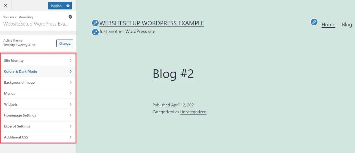Customizing WordPress Theme