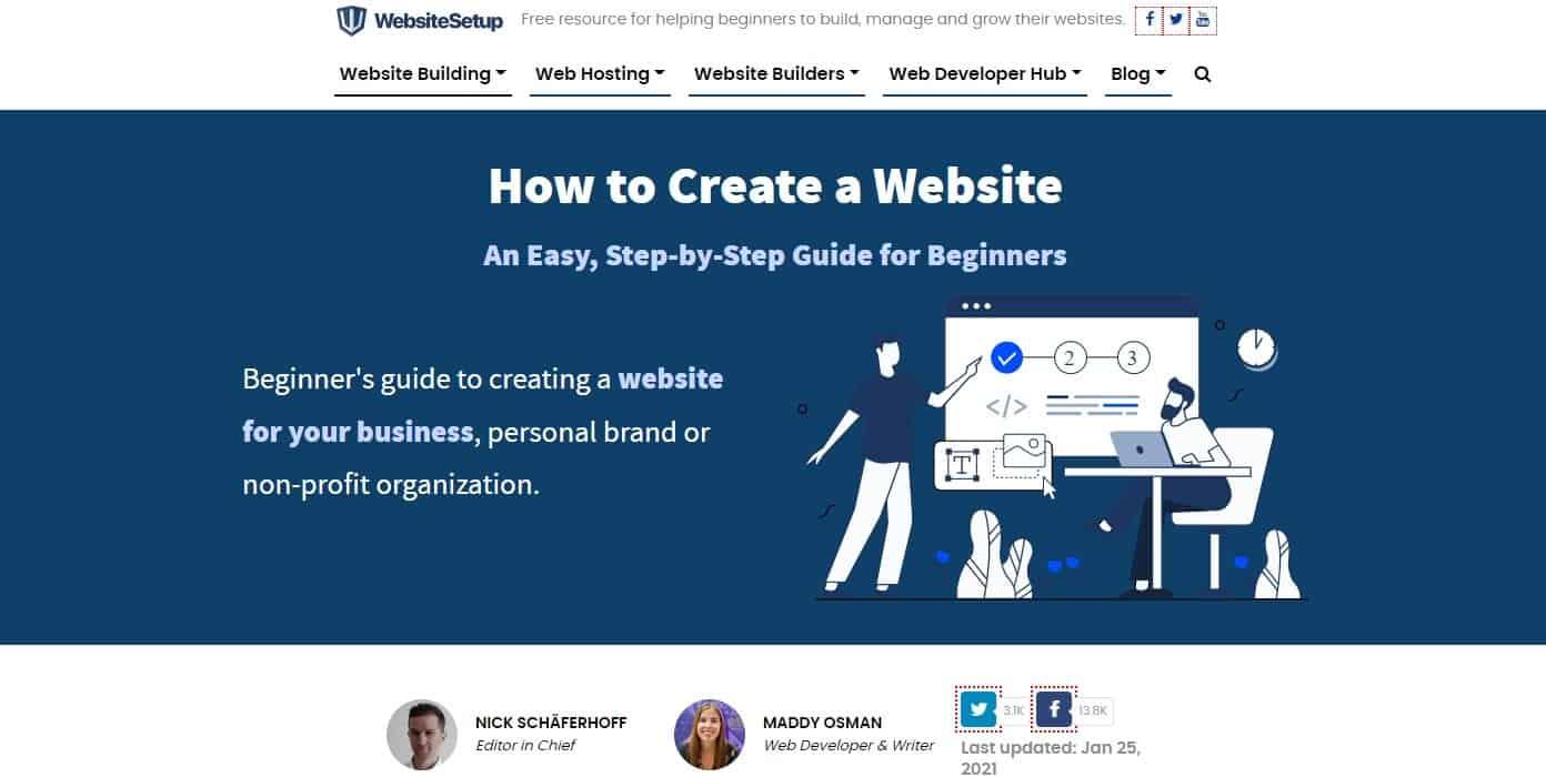 WebsiteSetup Homepage