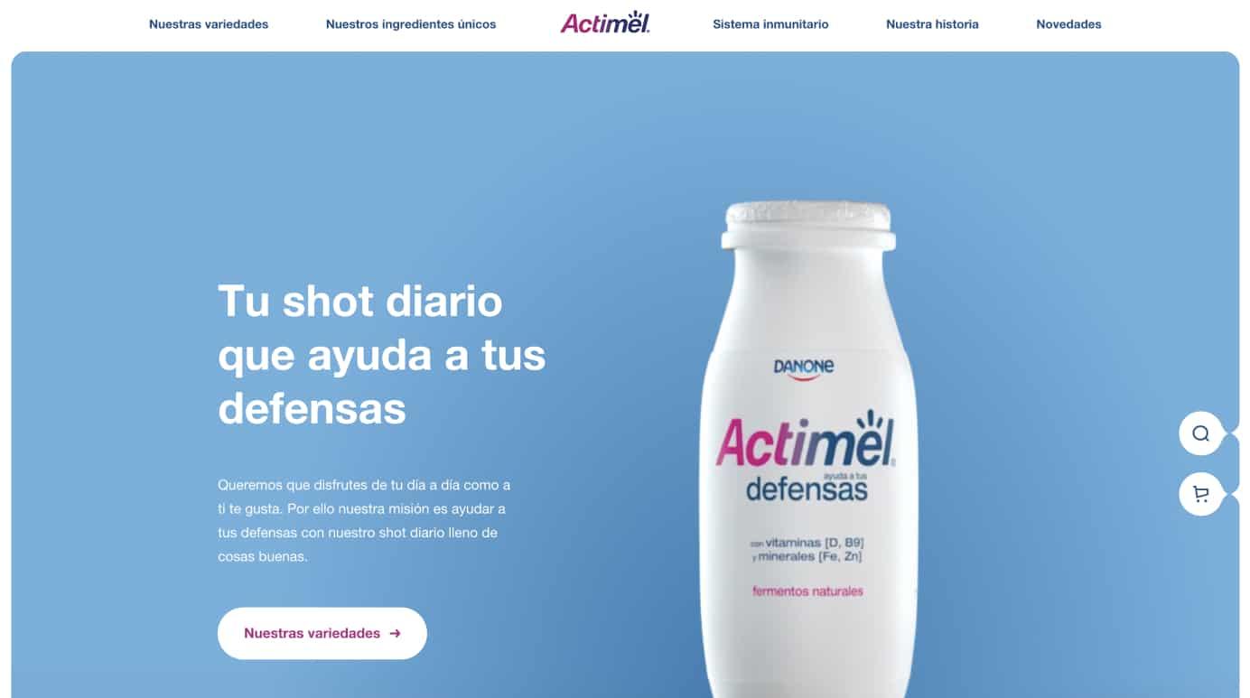 Actimel website