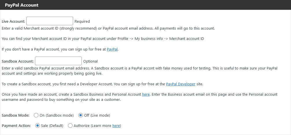 connect paypal buy now button plugin to paypal account