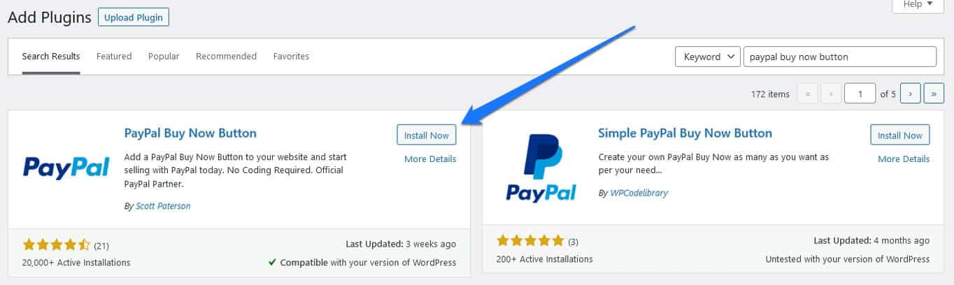 install paypal buy now button plugin