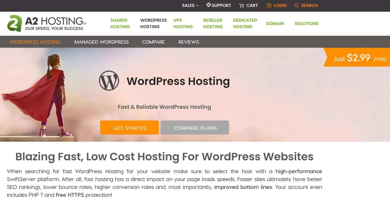 A2 WordPress hosting