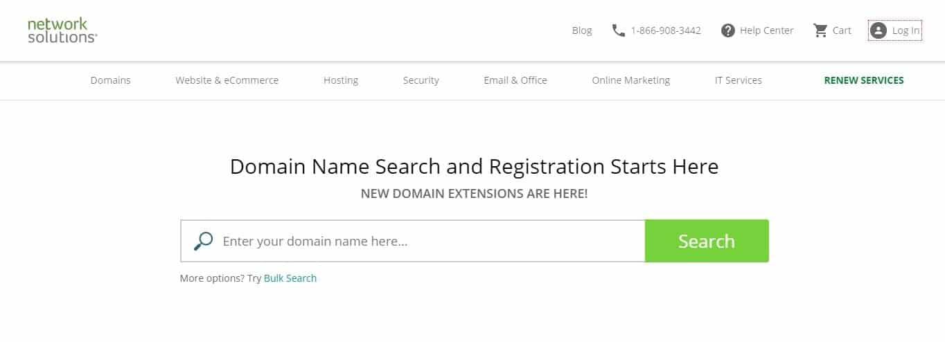 Network Solutions domain name generator