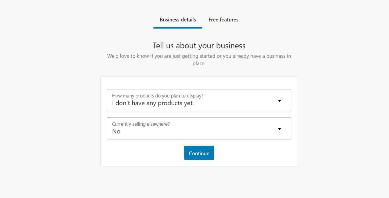 WooCommerce business details