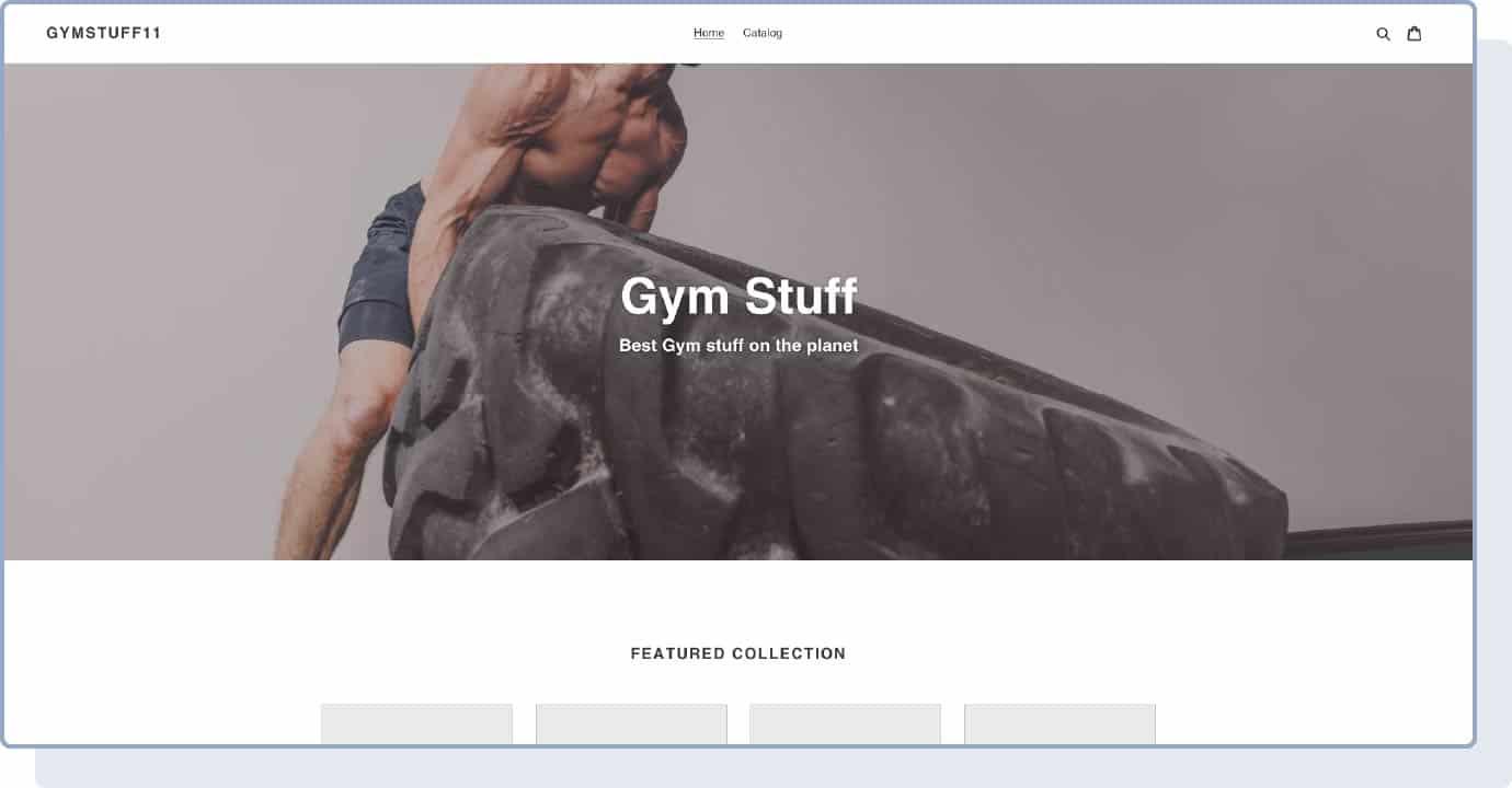 Shopify template screenshot